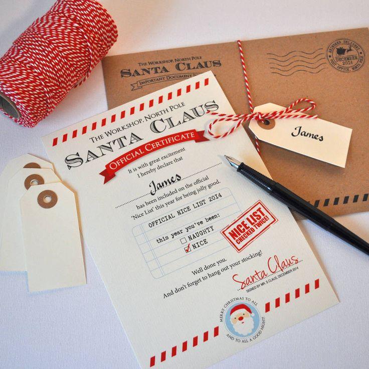 personalised santa letter 'nice list' by eskimo kiss designs | notonthehighstreet.com