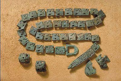 Viking age belt decorations. Uppland, Sweden.