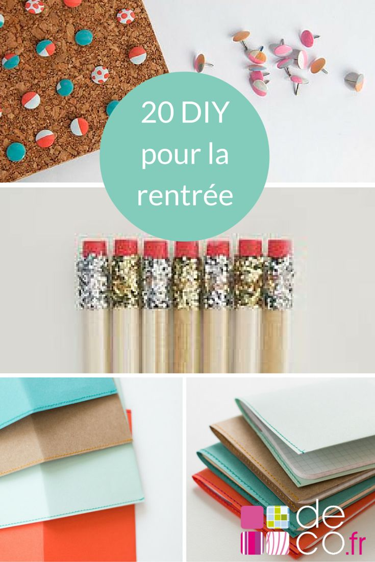 20 DIY pour la rentrée des classes#back to shoocle