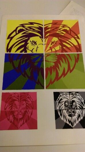 #Lion #colors #drawing