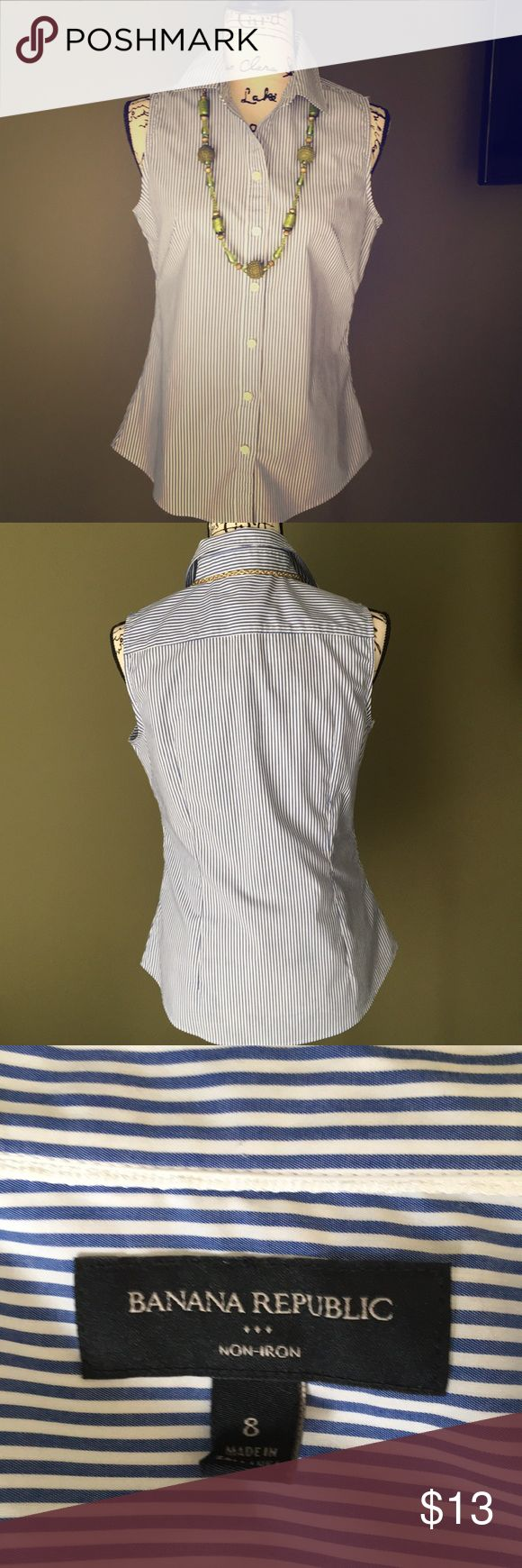 "Ralph Lauren sleeveless non iron shirt Almost new😉;Size medium but for 34"" bust(I bought it and it is tight on the breast area):-( Tops Blouses"
