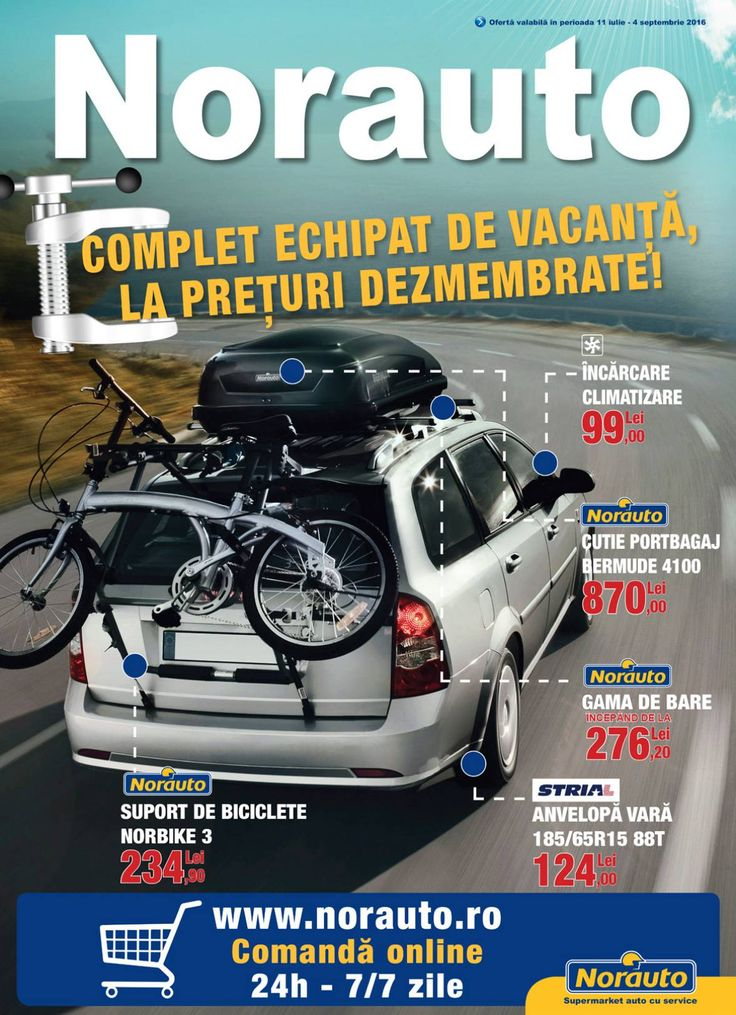Catalog Norauto 11 Iulie - August - 04 Septembrie 2016! Oferte si recomandari: bicicleta pliabila Flexy 165, cadru otel, greutate 15 kg, 659,90 lei