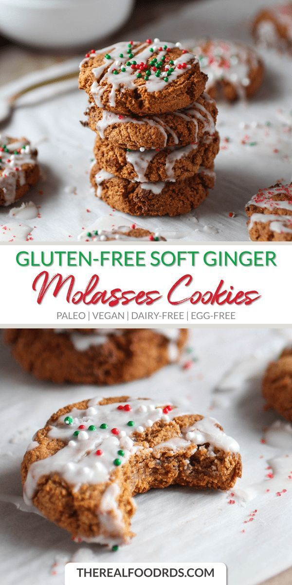 Grain-free Soft Ginger Molasses Cookies
