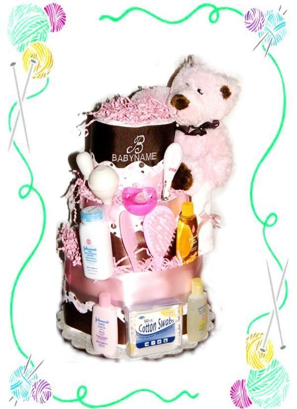 Dotty Diaper Cake