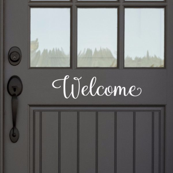 Place this on your front door or inside your home. Can also be used for weddings and parties. Wall decals are growing in popularity. They are the perfect way to add a unique look to any room in very l