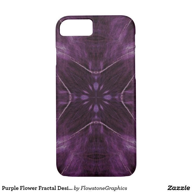 Purple Flower Fractal Design iPhone 7 Case