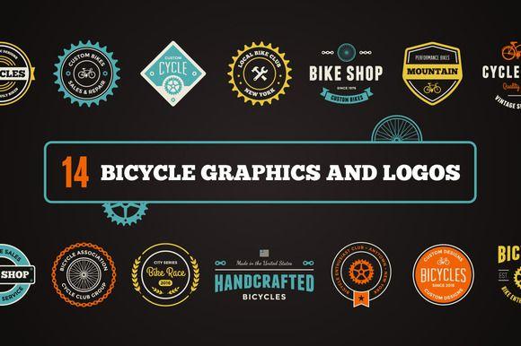 Bike Graphics & Logos by Ember Studio on @creativemarket