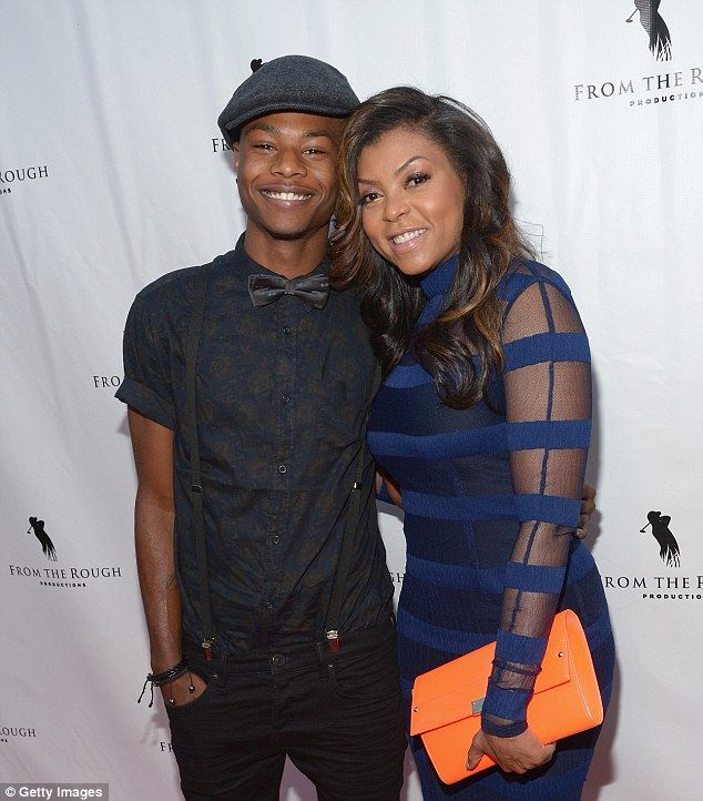 Close to home: Taraji P. Henson says she is sending her son to historically-black college Howard University because he has been racially profiled. The mother and son pictured above at a film screening in Hollywood last April