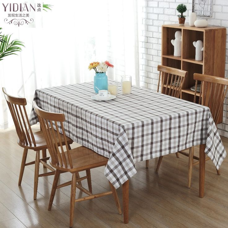 Gray And White Plaid Pattern Table Cloth Rectangular 2017 New Pastoral Style Tablecloths Tischdecke Manteles Para Mesa ZJ0018 #Affiliate