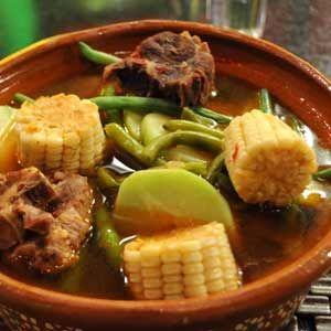::AL SABOR DEL CHEF:: Recetas, consejos y más para la cocina. Mole de Olla con Xoconostle.