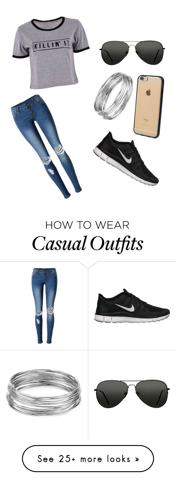 """casual school outfit"" by angelklunder on Polyvore featuring Topshop, NIKE, Aqua, Incase and WithChic"