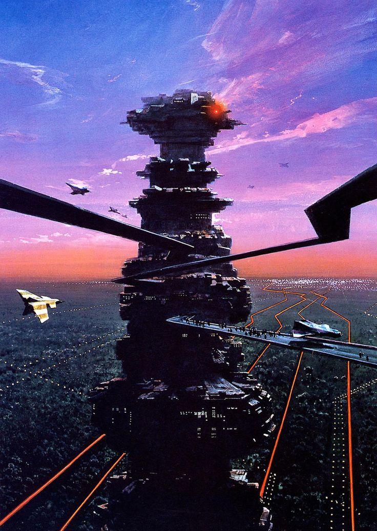 Whoa, city planet. By John Harris. Cover art for Speaker for the Dead!