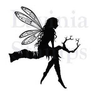 Fairy On Moon Silhouette Another large silhouette stamp