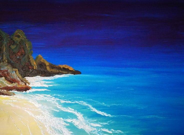#painting #oil #olipainting #sea #festmény