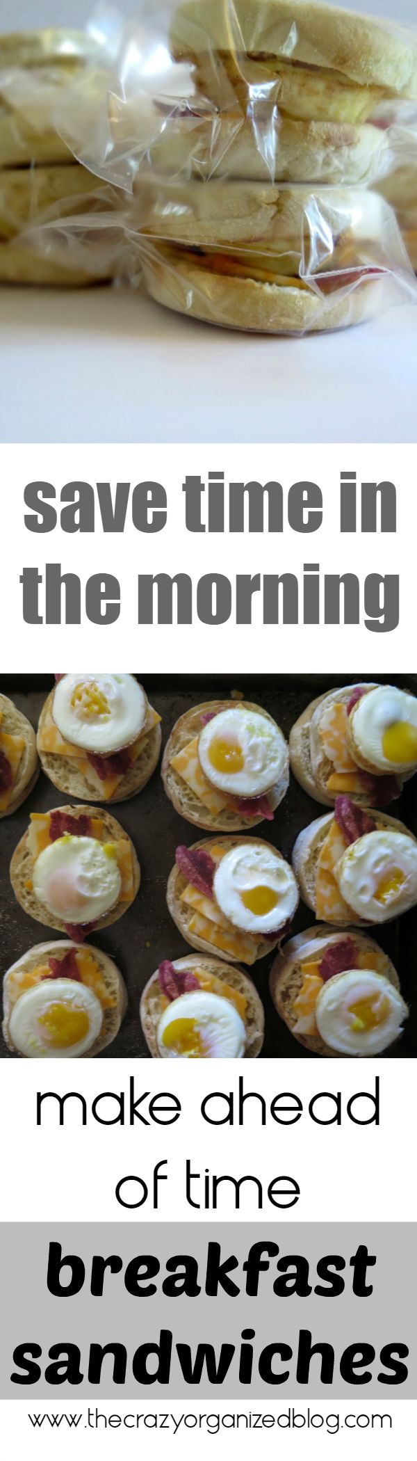 Save so much time in the morning with these easy to make ahead of time breakfast sandwiches!