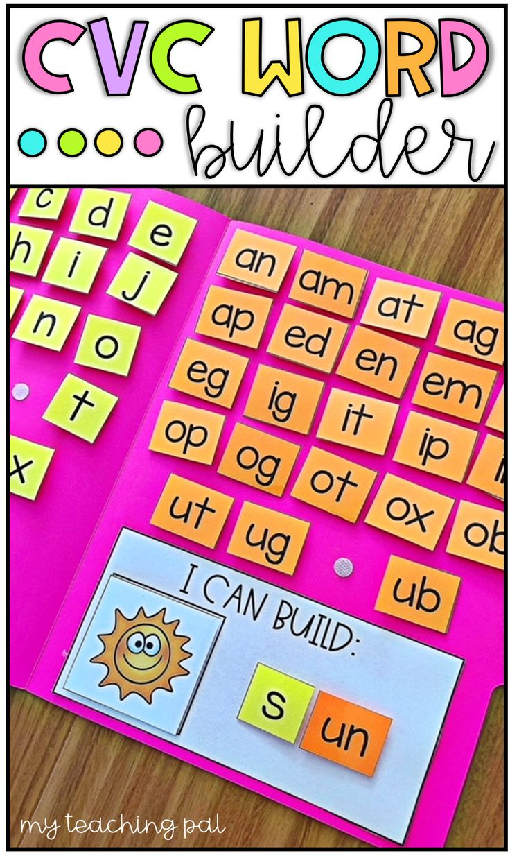 CVC Word Builder Activity. Want a fun activity for students to practice building CVC words? This activity is a perfect addition to literacy centers, intervention programs and so much more. There are 72 picture cards included which cover short a, short e, short i, short o and short u words. Simple print and laminate the pieces and attach to a file folder using Velcro dots. I highly recommend laminating or covering the file folder in clear contact paper to ensure durability. An optional…
