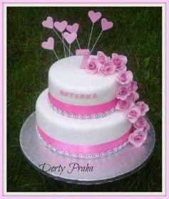dort k narozeninám se srdíčky DP