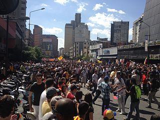 Manifestación en Chacao