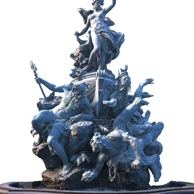 fountain monumen 3d model
