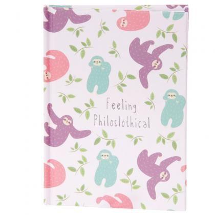 Zápisník s tvrdými deskami a motivem Lenochod #sloth #notebook #stationery #lenochod