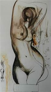 Brett Whiteley (1939 - 1992), Large Offset Lithograph, (Nude Study)