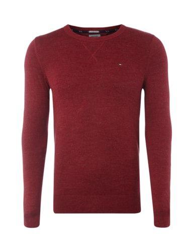 HILFIGER-DENIM Pullover mit Stretch-Anteil - meliert in Rot online kaufen (9512549) | P&C Online Shop