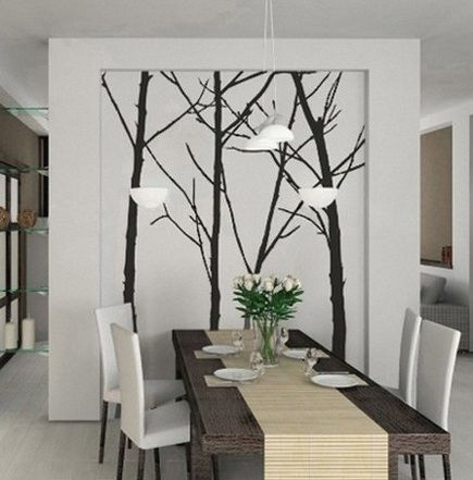 Wall decals as contemporary wall art ideas for dining room