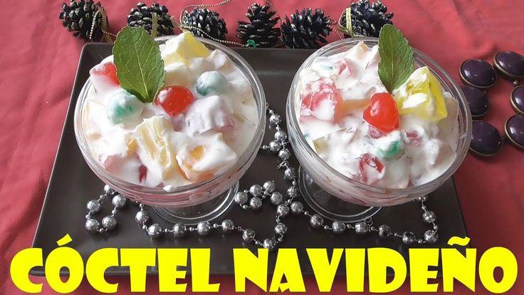 CÓCTEL DE FRUTAS Y GELATINA, NAVIDEÑO (FRUIT COCTAIL)