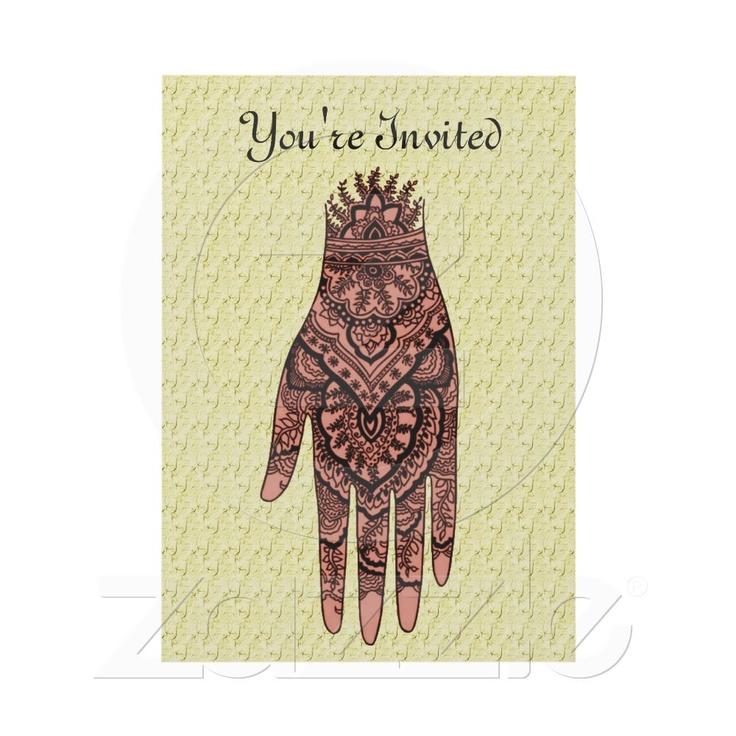 24 best mehndi invitations images on wedding