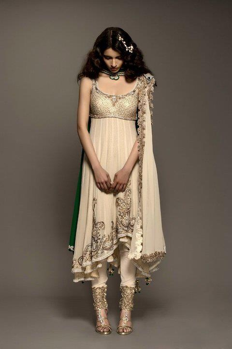 Indian wedding dress suit. This is my dream dress.  Simple cut with extreme embroidery.  Perfect for a rustic relaxed care-free wedding.  Kisneel by Pam Mehta