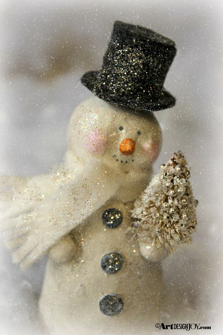 Sculpey oven bake clay snowman tutorial