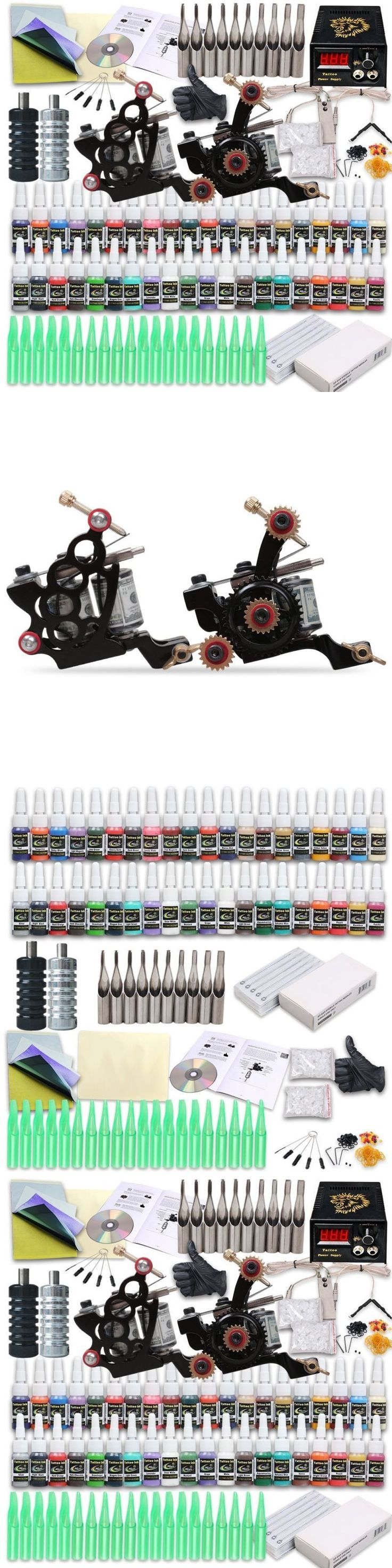 Tattoo Complete Kits: Professional Complete Tattoo Machine Kit 2 Gun 40 Color Ink Needle Power Supply -> BUY IT NOW ONLY: $61.7 on eBay!