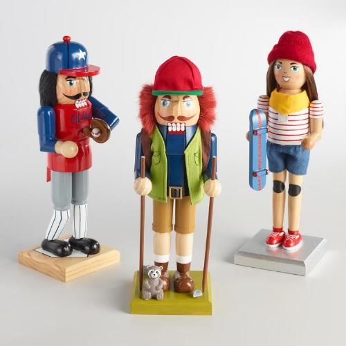 One of my favorite discoveries at WorldMarket.com: Sporty Nutcrackers Set of 3