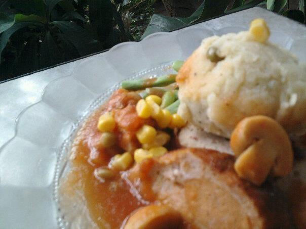 Galantine with Veggie Mashed Potato for Special Tummy