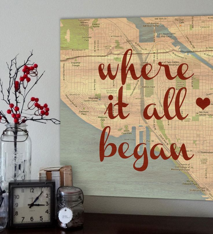 a sweet keepsake reminder of 'where it all began.' - the story of your love! so in love with this custom canvas!