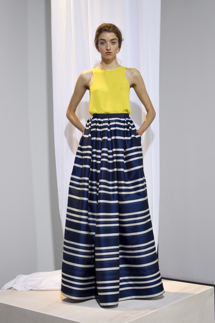 Love this look: Stripes Maxi Skirts, Men Style, Stripes Skirts, Gordon Spring, Ballrooms Skirts, Style Pinboard, Incr Unflatt, Spring 2012, Wes Gordon
