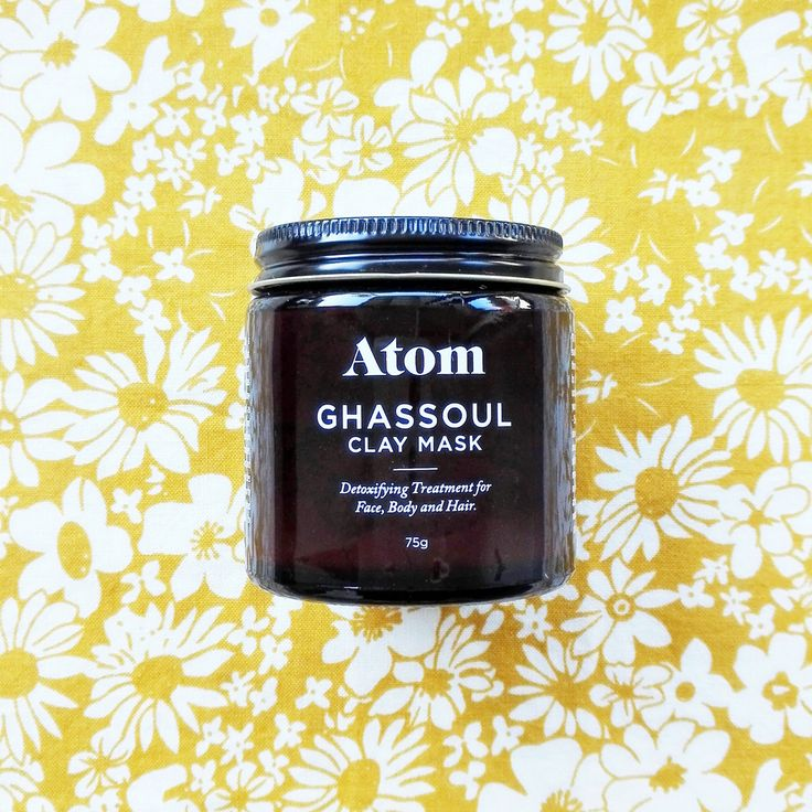 Atom Boutique - Ghassoul Clay Mask 75g - A 100% all natural deep pore facial cleanser, blackhead remover and pore minimizer with superior healing and anti-ageing qualities.