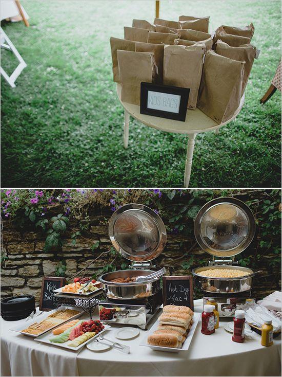 kid friendly wedding plus hotdog and macoroni and cheese station