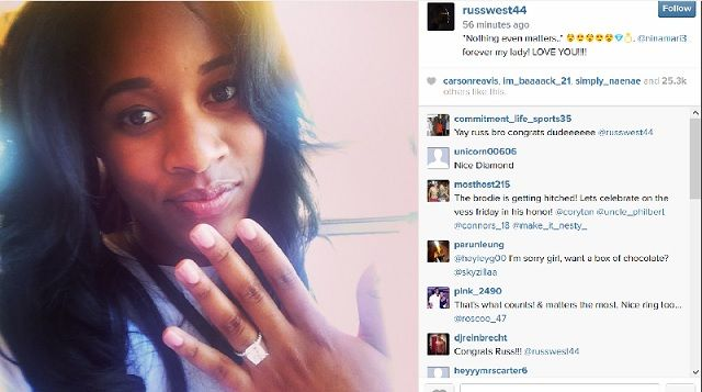 Russell Westbrook, Nina Earl announce engagement on Instagram | Oklahoma City - OKC - KOCO.com