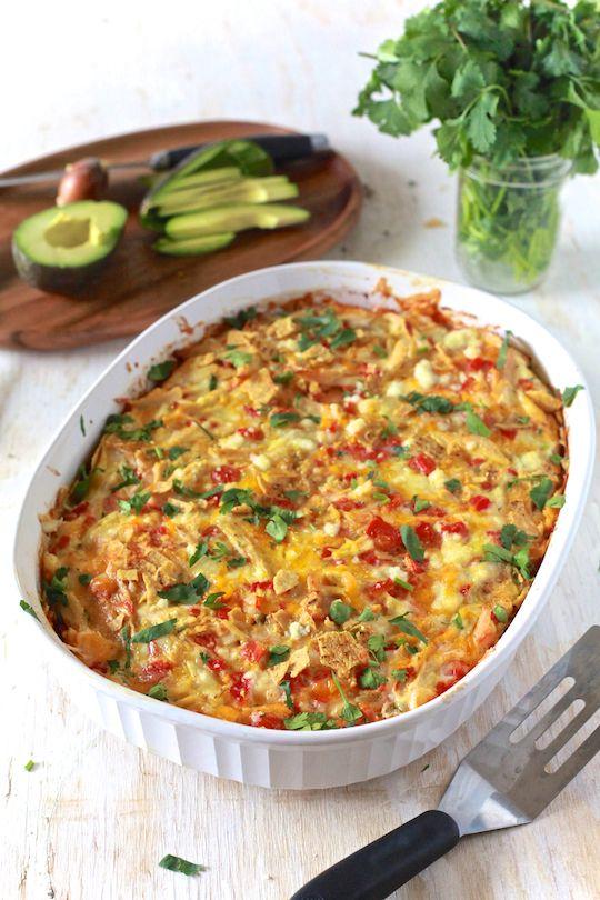 i am SO making these. ::: Breakfast Chicken Chilaquiles - TheNoshery.com