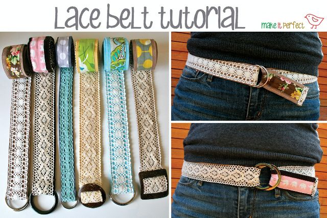 make it perfect: .Lace Belt Tutorial.Sewing, Lace Belts, Fashion Style, Home Crafts, Diy Christmas Gift, Gift Ideas, Diy Gift, Crafty Gift, Belts Tutorials