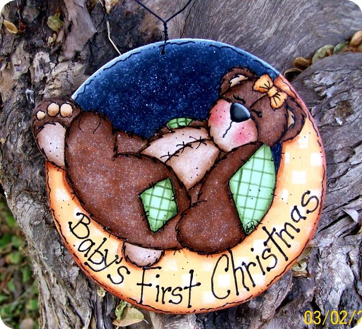 Babys First Christmas Bear Ornament