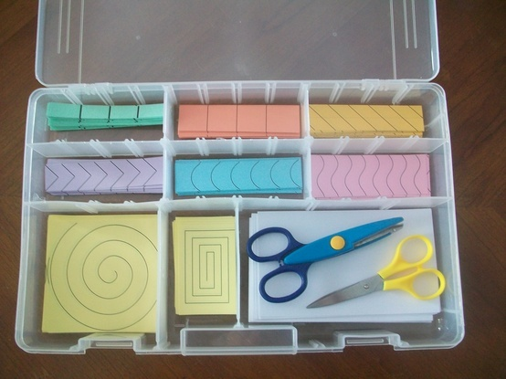 cutting activity box - a 3 year old's dream come true - Click image to find more Kids Pinterest pins