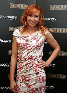 Kari Byron - Artist & sculptor. Helps investigate myths with co-hosts Grant & Tori. She's probably the most level-headed of the three. She's also known for being a pescatarian (look it up) & for temporarily leaving the show in early 2009 for maternity leave to give birth to her daughter. Her husband is also an artist.