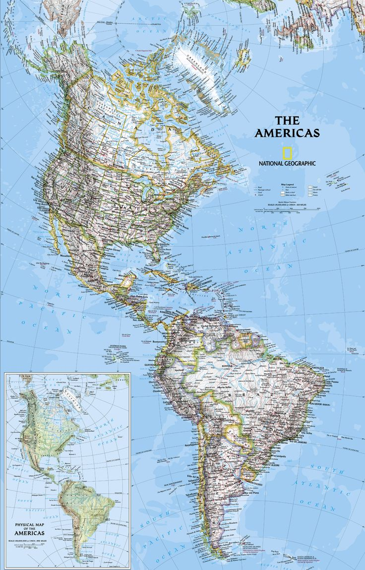 our map of the americas offers a great view of two neighboring continents including boundaries central america mapsouth americanational geographic