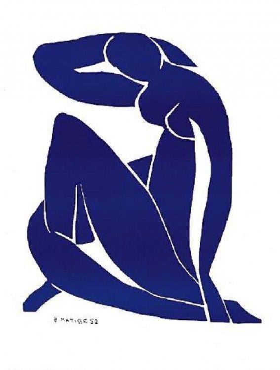 Henri Matisse - Nu Bleu II Bild Poster Kunstdruck (30x24cm) #7834