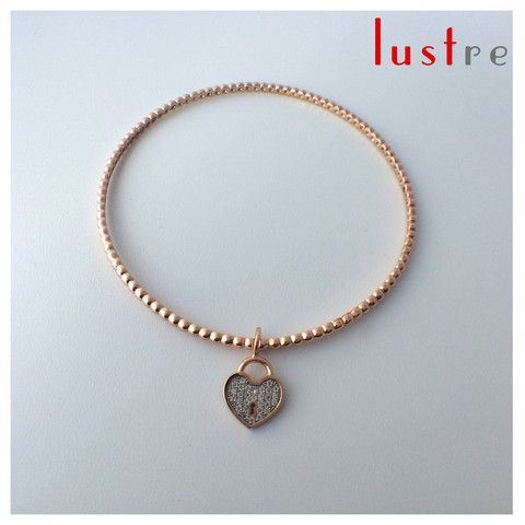 """Mother and Child Bangle, """"Heart"""" Charm. – Lustre Jewellery"""