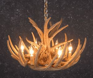 Whitetail 9 Antler Cascade Chandelier | Black Forest Decor
