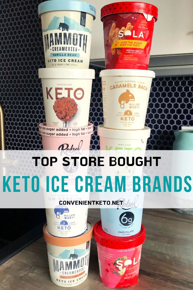 Keto Friendly Ice Cream Brands to Buy Online! | Desserts and Sweets | Keto friendly ice cream ...