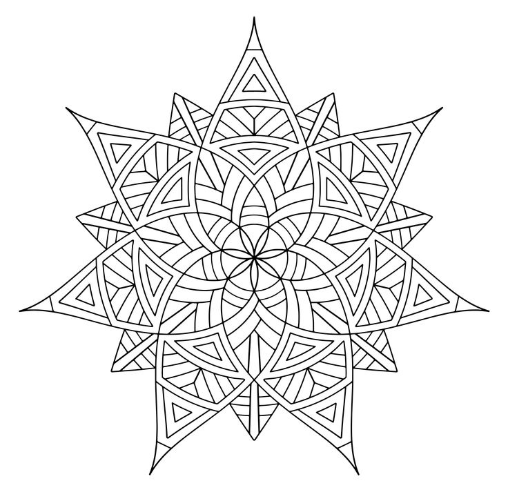 21 best Adult Coloring Pages MANDALA GEOMETRICI E ASTRATTI images on ...